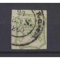 PARMA 1859 GOVERNO PROVVISORIO 5 CENTESIMI VERDE N.13 USATO 2 CERTIFICATI Modena e Parma francobolli filatelia stamps