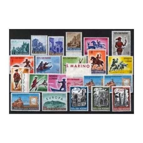 1961 SAN MARINO ANNATA COMPLETA + P.A. G.I. San Marino francobolli filatelia stamps