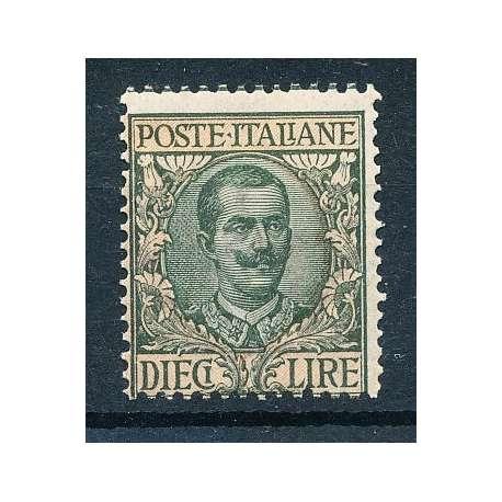 1910 10 LIRE CON G.I regno d' Italia francobolli filatelia stamps