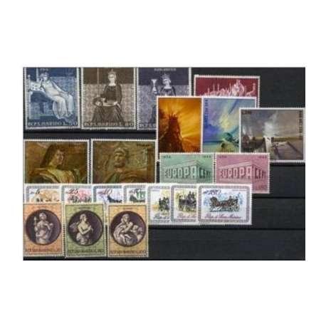 1969 SAN MARINO ANNATA COMPLETA G.I. San Marino francobolli filatelia stamps