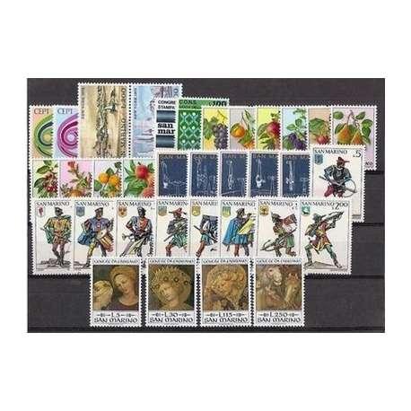 1972 SAN MARINO ANNATA COMPLETA + P.A. G.I. San Marino francobolli filatelia stamps