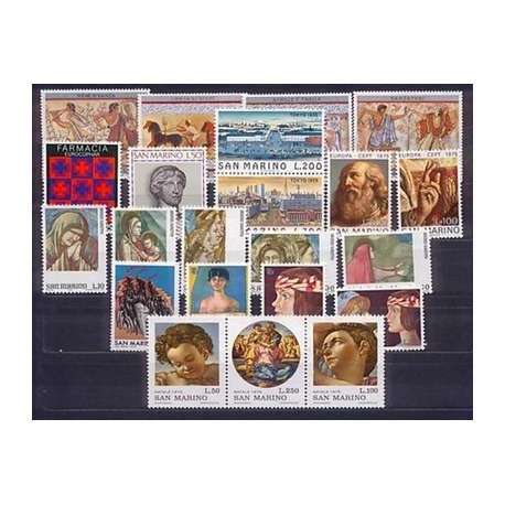 1975 SAN MARINO ANNATA COMPLETA G.I. San Marino francobolli filatelia stamps