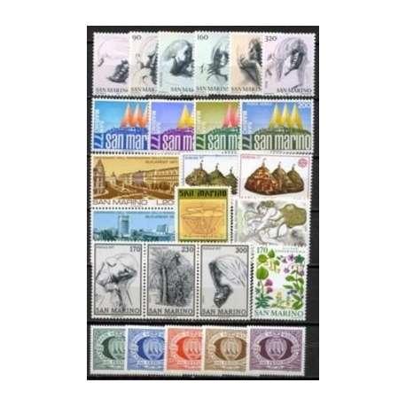 1977 SAN MARINO ANNATA COMPLETA G.I. San Marino francobolli filatelia stamps