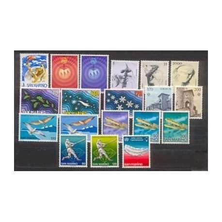 1978 SAN MARINO ANNATA COMPLETA + P.A. G.I. San Marino francobolli filatelia stamps