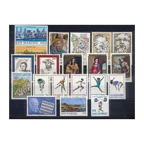 1980 SAN MARINO ANNATA COMPLETA G.I. San Marino francobolli filatelia stamps