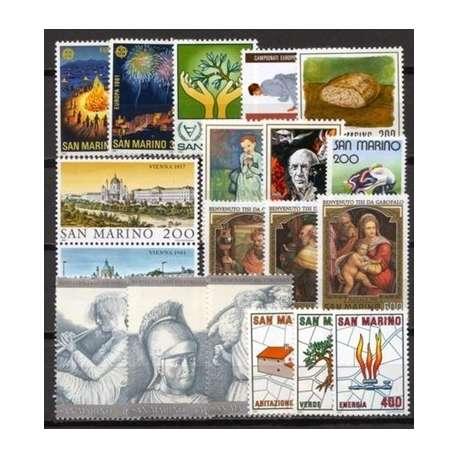 1981 SAN MARINO ANNATA COMPLETA G.I. San Marino francobolli filatelia stamps