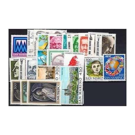 1982 SAN MARINO ANNATA COMPLETA G.I. San Marino francobolli filatelia stamps