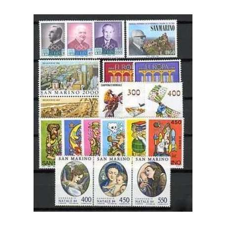 1984 SAN MARINO ANNATA COMPLETA G.I. San Marino francobolli filatelia stamps