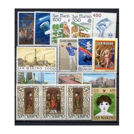 1986 SAN MARINO ANNATA COMPLETA G.I. San Marino francobolli filatelia stamps