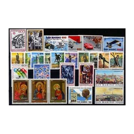 1987 SAN MARINO ANNATA COMPLETA G.I. San Marino francobolli filatelia stamps