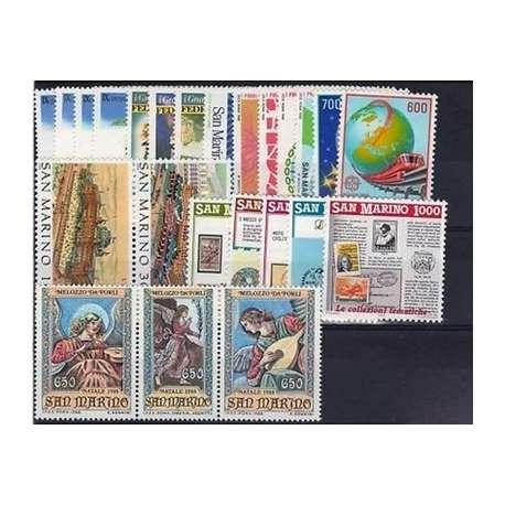 1988 SAN MARINO ANNATA COMPLETA G.I. San Marino francobolli filatelia stamps