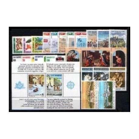 1989 SAN MARINO ANNATA COMPLETA G.I. San Marino francobolli filatelia stamps