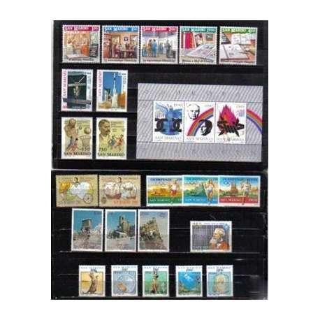 1991 SAN MARINO ANNATA COMPLETA + BF G.I. San Marino francobolli filatelia stamps