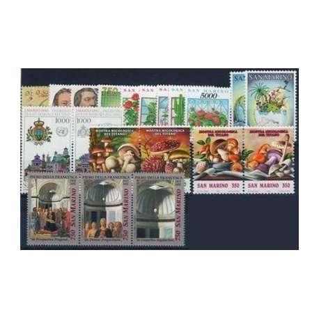 1992 SAN MARINO ANNATA COMPLETA + BF G.I. San Marino francobolli filatelia stamps