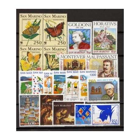 1993 SAN MARINO ANNATA COMPLETA + BF G.I. San Marino francobolli filatelia stamps