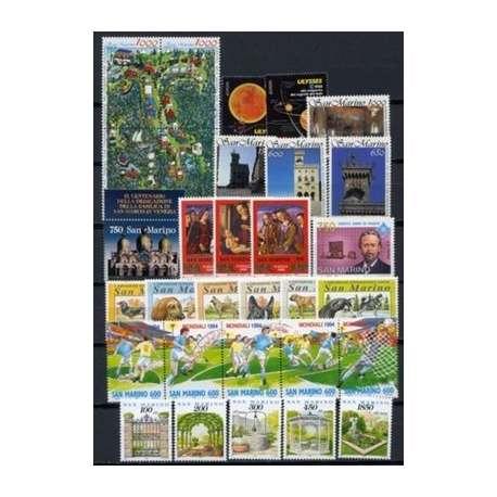 1994 SAN MARINO ANNATA COMPLETA + BF G.I. San Marino francobolli filatelia stamps