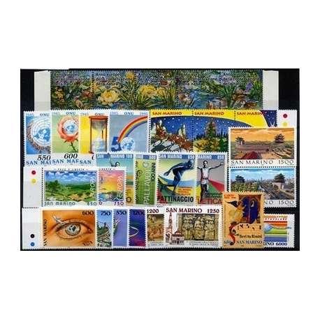 1995 SAN MARINO ANNATA COMPLETA G.I. San Marino francobolli filatelia stamps