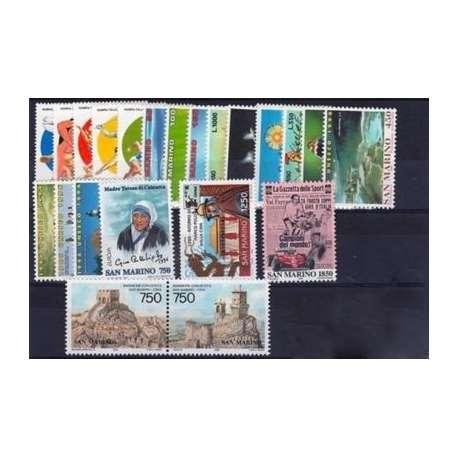 1996 SAN MARINO ANNATA COMPLETA + BF G.I. San Marino francobolli filatelia stamps