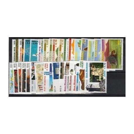 1999 SAN MARINO ANNATA COMPLETA + BF G.I. San Marino francobolli filatelia stamps
