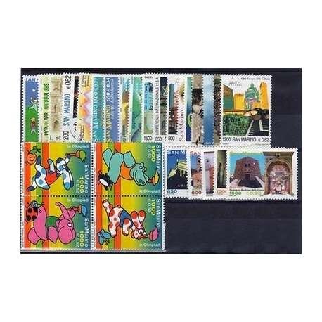 2000 SAN MARINO ANNATA COMPLETA + BF G.I. San Marino francobolli filatelia stamps