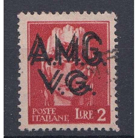 VENEZIA GIULIA 1945-47 2 L DOPPIA SOPRASTAMPA (9e) US. Occupazioni francobolli filatelia stamps