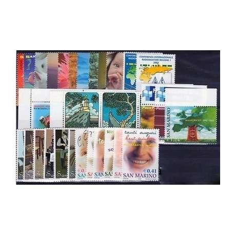 2002 SAN MARINO ANNATA COMPLETA + BF G.I. San Marino francobolli filatelia stamps