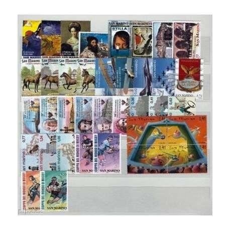 2003 SAN MARINO ANNATA COMPLETA + BF G.I. San Marino francobolli filatelia stamps