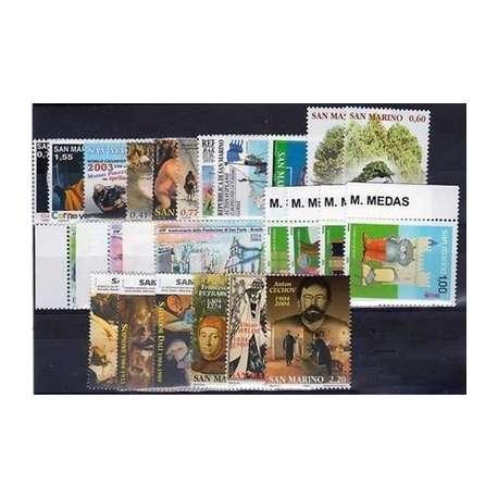 2004 SAN MARINO ANNATA COMPLETA + BF G.I. San Marino francobolli filatelia stamps