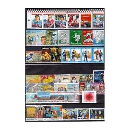 2005 SAN MARINO ANNATA COMPLETA + BF G.I. San Marino francobolli filatelia stamps