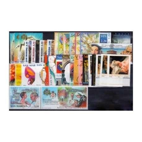 2006 SAN MARINO ANNATA COMPLETA + BF G.I. San Marino francobolli filatelia stamps