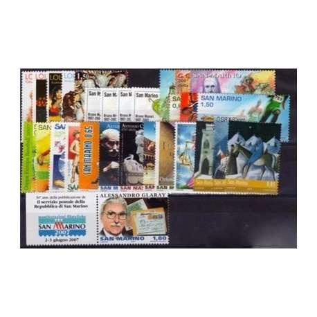 2007 SAN MARINO ANNATA COMPLETA + BF G.I. San Marino francobolli filatelia stamps