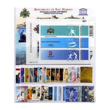 2008 SAN MARINO ANNATA COMPLETA + BF G.I. San Marino francobolli filatelia stamps