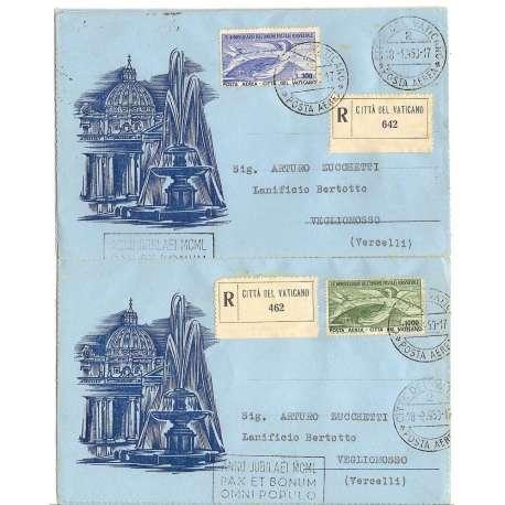 BUSTA U.P.U. DOCUMENTO POSTALE ORIGINALE CON BOLLO ARRIVO Vaticano francobolli filatelia stamps