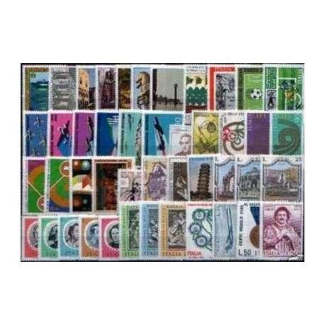 1973 REPUBBLICA ANNATA COMPLETA 45 V. G.I. repubblica italiana francobolli filatelia stamps