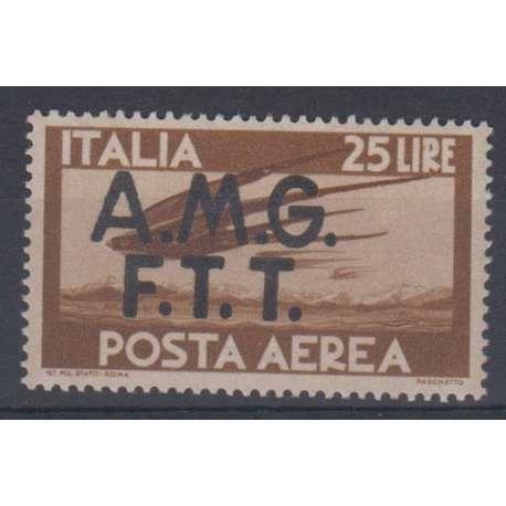 "TRIESTE ZONA ""A"" P/A 1947 ""DEMOCRATICA"" 25 L G.I MNH** Trieste Zona ""A"" francobolli filatelia stamps"