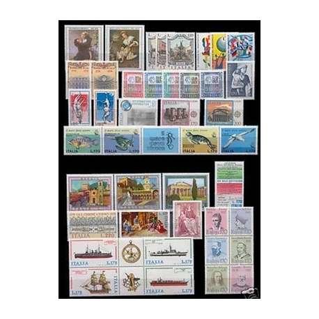 1978 REPUBBLICA ANNATA COMPLETA 42 V. G.I. repubblica italiana francobolli filatelia stamps