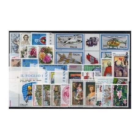 1982 REPUBBLICA ANNATA COMPLETA 34 V. G.I. repubblica italiana francobolli filatelia stamps