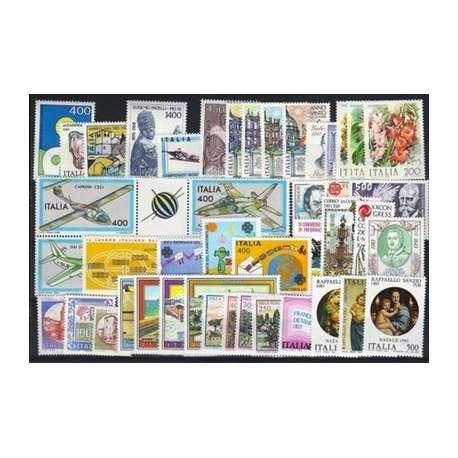1983 REPUBBLICA ANNATA COMPLETA 46 V. G.I. repubblica italiana francobolli filatelia stamps