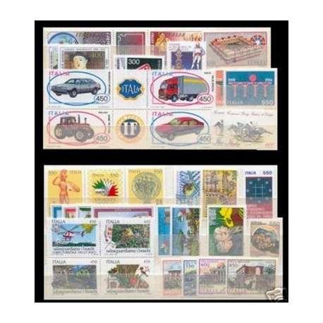 1984 REPUBBLICA ANNATA COMPLETA 38 V. G.I. repubblica italiana francobolli filatelia stamps