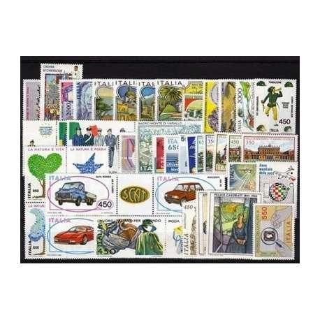 1986 REPUBBLICA ANNATA COMPLETA 42 V. G.I. repubblica italiana francobolli filatelia stamps