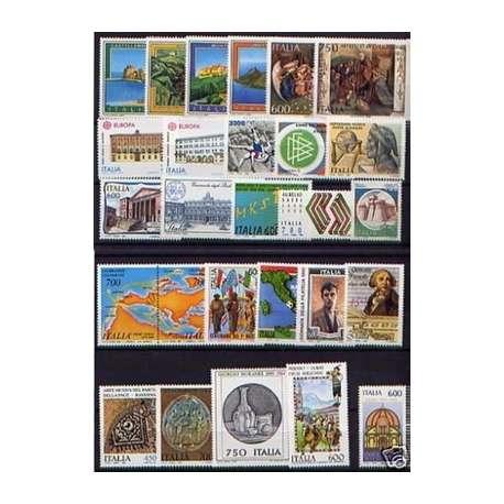 1990 REPUBBLICA ANNATA COMPLETA 27 V. + B.F. G.I. repubblica italiana francobolli filatelia stamps