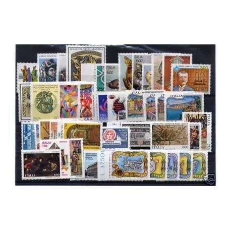 1993 REPUBBLICA ANNATA COMPLETA 61 V.+B.F.+ L.I.B. G.I. repubblica italiana francobolli filatelia stamps