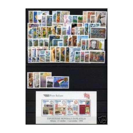 1997 REPUBBLICA ANNATA COMPLETA 64 V.+ B.F. G.I. repubblica italiana francobolli filatelia stamps