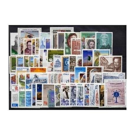 1998 REPUBBLICA ANNATA COMPLETA 65 V.+B.F.+LIB. G.I. repubblica italiana francobolli filatelia stamps