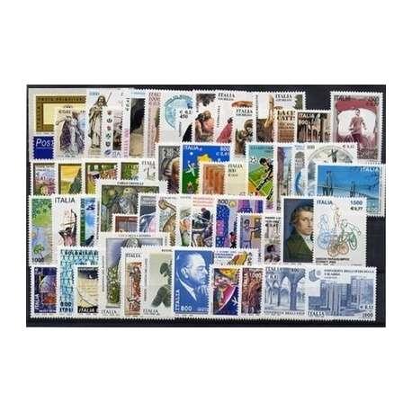 2000 REPUBBLICA ANNATA COMPLETA 54V. +B.F. G.I. repubblica italiana francobolli filatelia stamps
