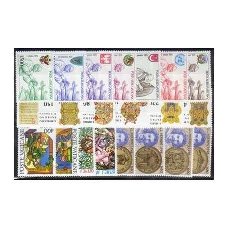 1980 VATICANO ANNATA COMPLETA G.I. Vaticano francobolli filatelia stamps