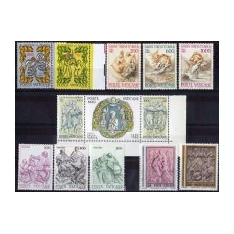 1982 VATICANO ANNATA COMPLETA G.I. Vaticano francobolli filatelia stamps