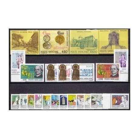 1984 VATICANO ANNATA COMPLETA G.I. Vaticano francobolli filatelia stamps