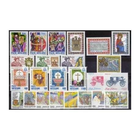 1985 VATICANO ANNATA COMPLETA G.I. Vaticano francobolli filatelia stamps