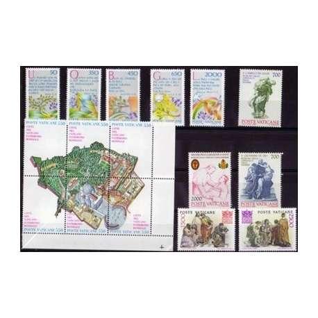 1986 VATICANO ANNATA COMPLETA G.I. Vaticano francobolli filatelia stamps